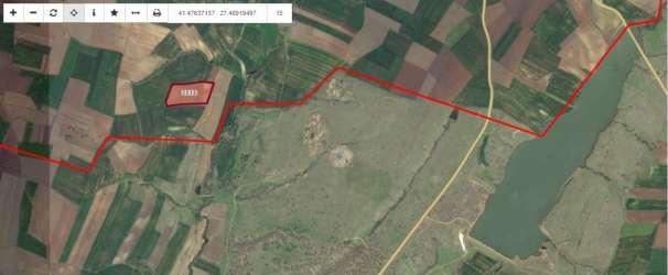 Lüleburgaz Karaağaç Köyü Baraj Çevresinde Satılık Tarla