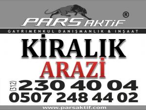 PARS AKTİF`TEN KAZAN BİTİK`TE KİRALIK TEK TAPU 37.000 m2 ARAZİ