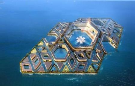 Çin`de yüzen şehir inşa edilecek!