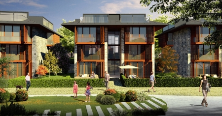 Çengelköy Park Evleri, 65 dönüm arazi üzerinde yükseliyor.